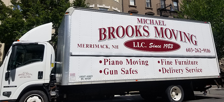 A moving truck.
