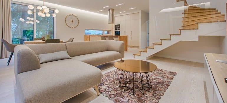 A light apartment.